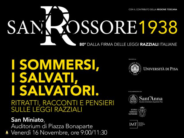 Università di Pisa e Fondazione CRSM per gli 80 anni dalla firma delle leggi razziali italiane